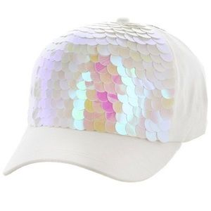 Accessories - Sequin Mermaid Scales Snapback Hat